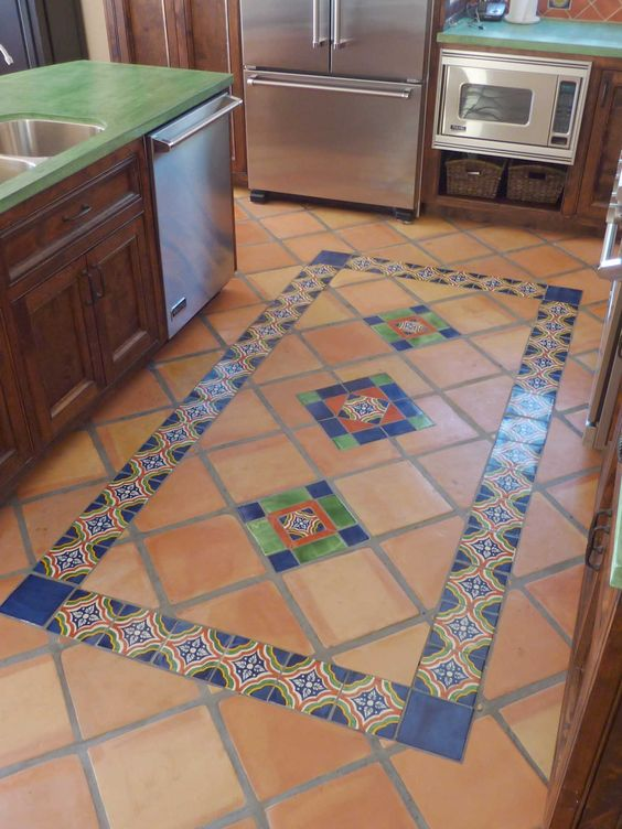 Mexican tile floor and decor ideas for your spanish style for Spanish style floor tiles