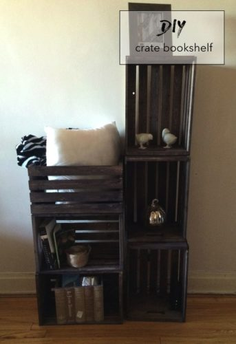 12 Ideas How To Make DIY Crate Bookshelf