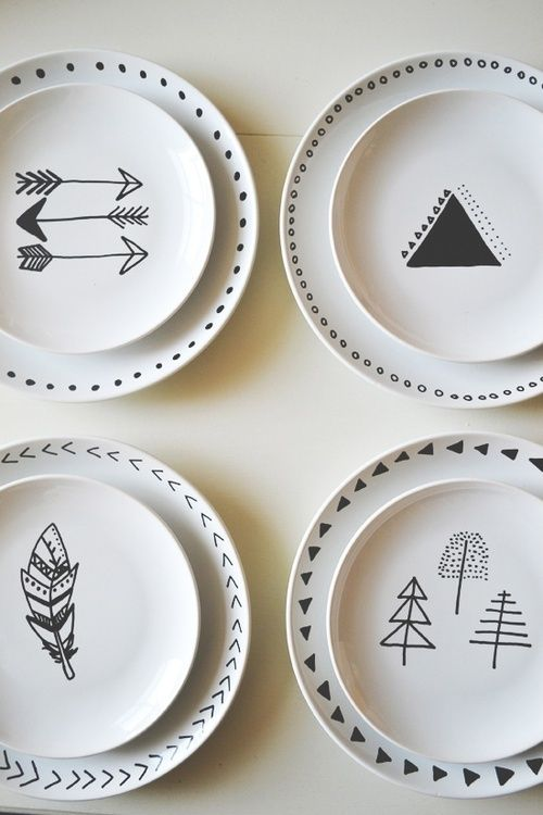 Hand painted plates everyone can paint diy ideas for Diy ceramic plates