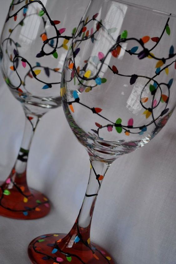 Check Out These Stunning Hand Painted Wine Glasses Diy Ideas