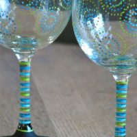 Check Out These Stunning Hand Painted Wine Glasses