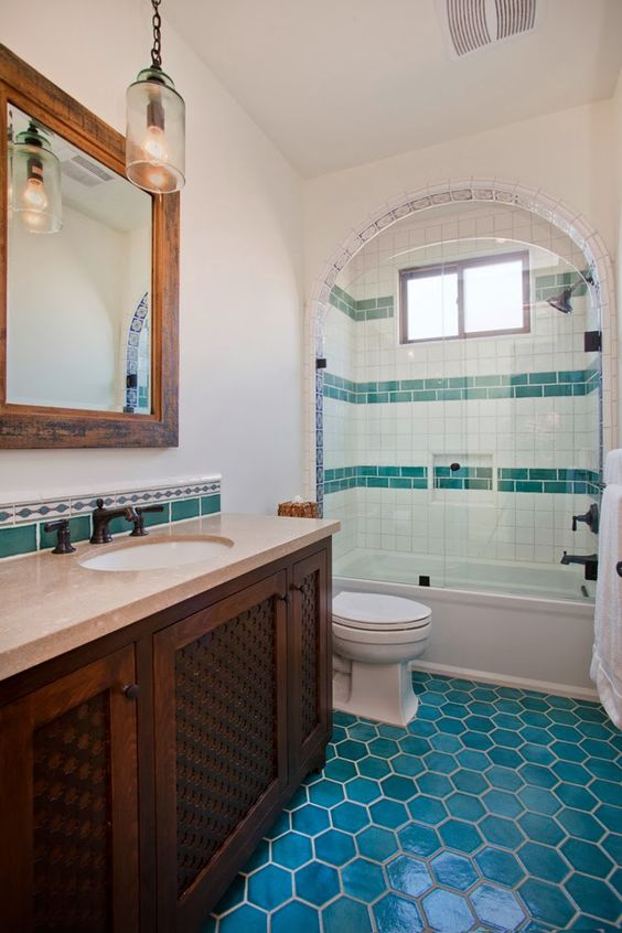 Bathroom Design Mexican Tile : Mesmerizing mexican tile bathroom ideas diy