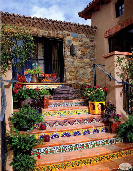 The Best Mexican Tile Stairs For Your Spanish Style Décor Diy Ideas